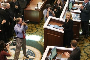 Governor Mary Fallin delivering the 2012 State of the State.
