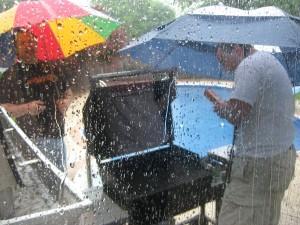 picnic in the rain