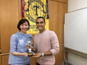 Maiden attempt for Suhas was rewarding - he was the first runner-up for Table Topics contest.