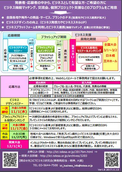 Challenge IoT Award 2017 ビジネスモデル発⾒&発表会 関東⼤会 裏