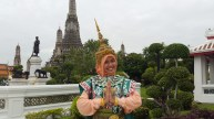 Renting This Thai Woman Costume in Wat Arun
