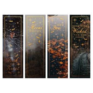 Oktoberdots bookmarks Halloween Quotes Bronze