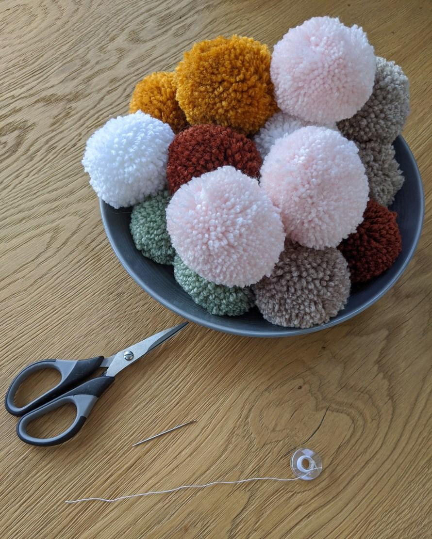 Big bowl of pompoms