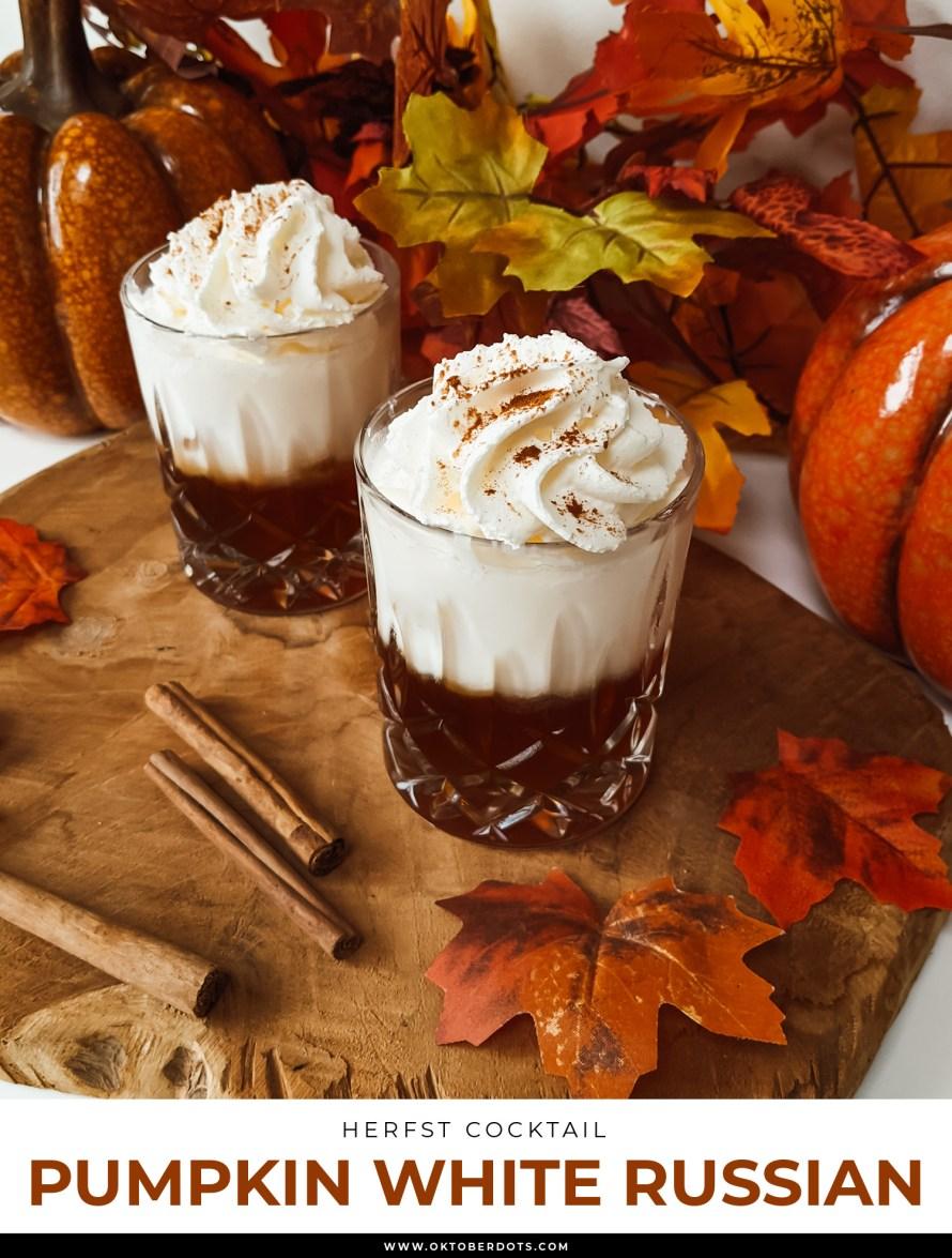 Oktoberdots herfst cocktail pumpkin white Russian recept