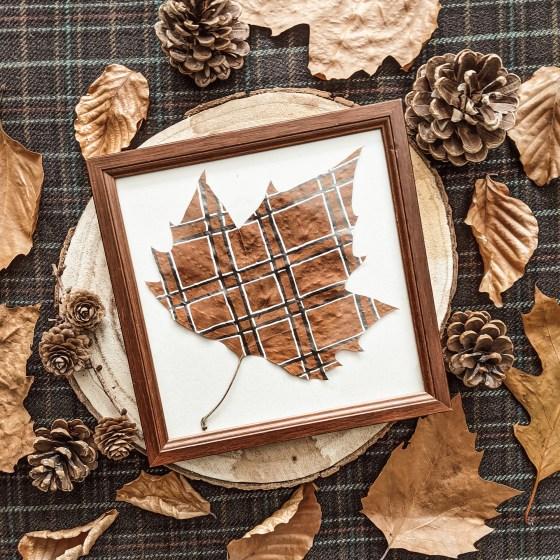 Oktoberdots tartan herfstblad