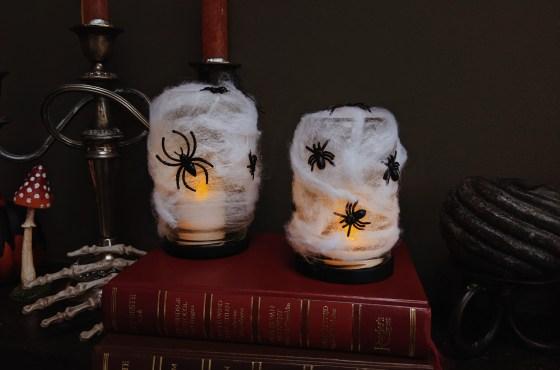 Spinnenweb lantaarntjes DIY