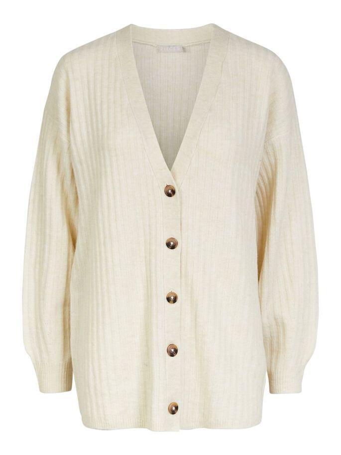 oktoberdots cosy cardigans 2020 creme vest met knopen