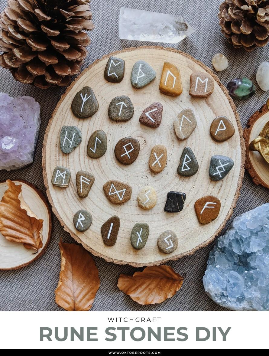 Oktoberdots rune stones DIY