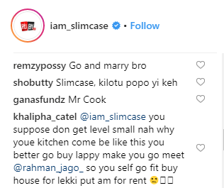 Between Slimcase and a follower who asked him to quit music and embrace fraud lailasnews 1