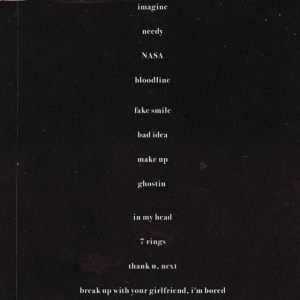 ARIANA GRANDE'S ALBUM TRACKLIST