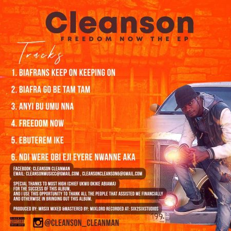 Cleanson - Freedom Now EP