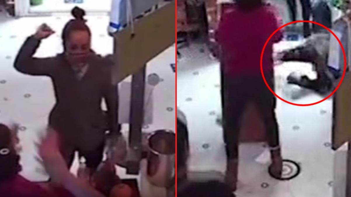 Torununa dezenfektan fırlatan kadını masayla dövdü! O anlar kamerada, okugit