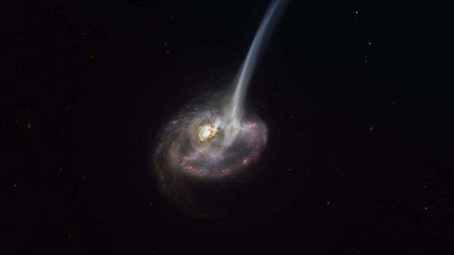 """galaksiler nasil oluyor bir galaksinin olumunun basi boyle gozlemlendi 0 cxcS5ti3 - Galaksiler Nasıl Ölüyor? Bir Galaksinin """"Ölümünün Başı"""" Böyle Gözlemlendi!"""