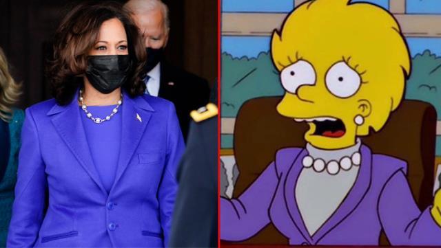 simpsonlar yine gundemde kamala harrisin yemin torenindeki kiyafetini 20 yil onceden bildiler 1 slSbwcTa - Simpsonlar yine gündemde! Kamala Harris'in yemin törenindeki kıyafetini 20 yıl önceden bildiler