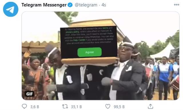 telegram afrikali cenaze danscilariyla whatsappi tiye aldi 0 AfkqWQ9x - Telegram, Afrikalı cenaze dansçılarıyla WhatsApp'ı ti'ye aldı