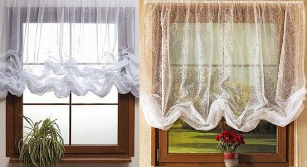 Австрийские шторы в интерьере кухни: элегантная пышность ...