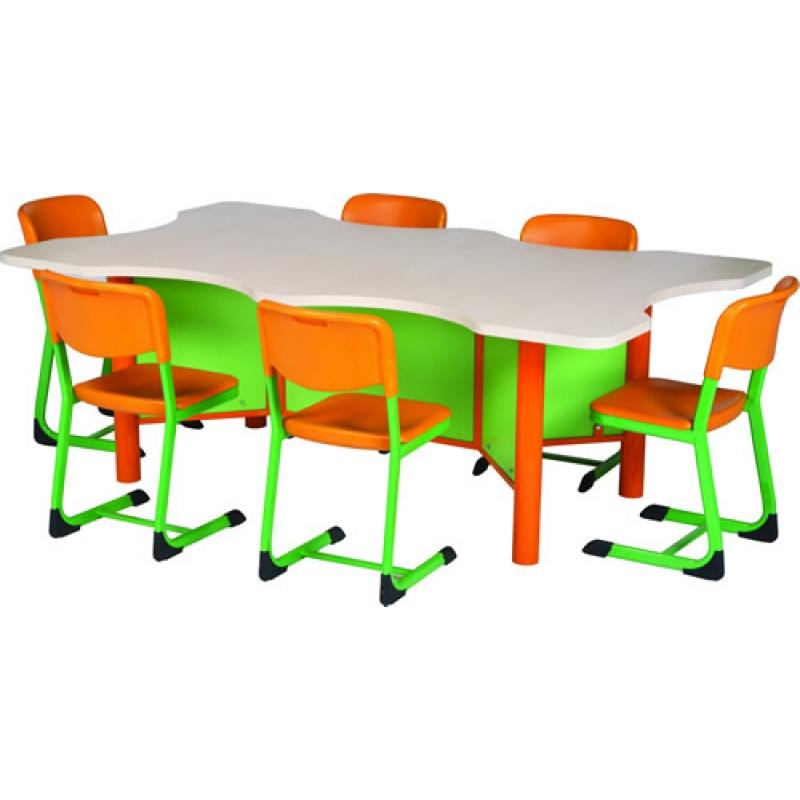 6 kişilik etüt masası