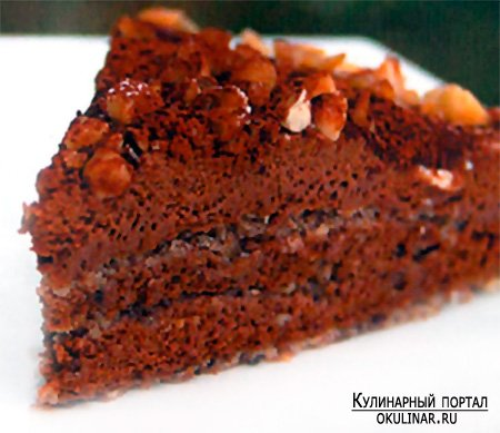 Рецепт Шоколадноореховый торт с фотографией