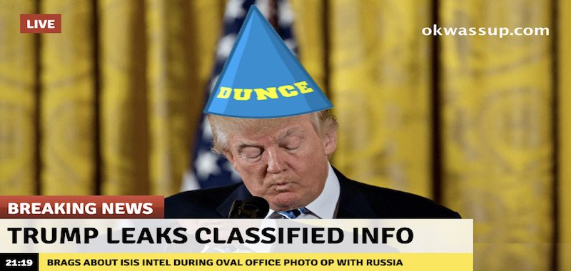 Classified Info Leaked By Loose-Lip Trump