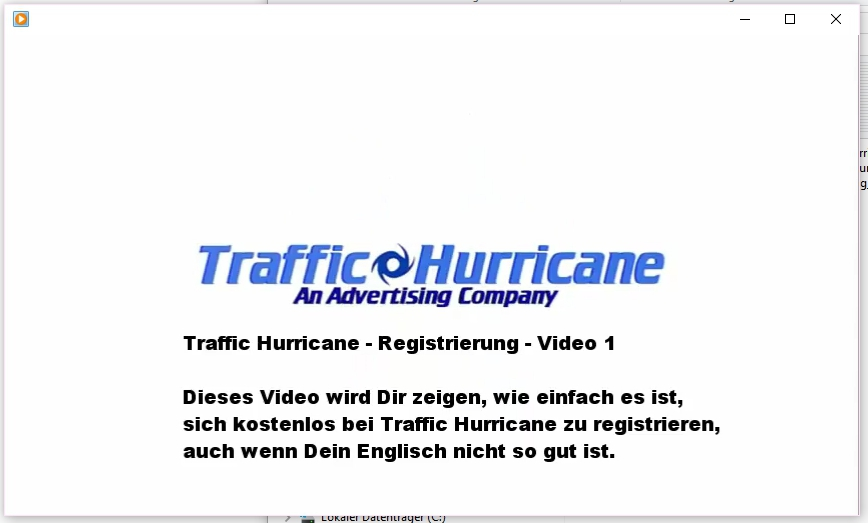 Deutsche Anleitung zur Registrierung bei Traffic Hurricane