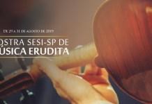 """Espectadores de 15 cidades espalhadas por todo o Estado de São Paulo receberão a segunda edição de 2019 da Mostra SESI-SP de Música Erudita, que será realizada de forma simultânea entre os dias 29 e 31 de agosto. Durante três dias, gratuitamente, será possível apreciar grupos difusores do gênero, desde sua forma mais pura e tradicional até as fases mais difundidas entre o grande público, com misturas harmoniosas de ritmos populares brasileiros, e até revolucionários. Serão 3 apresentações por cidade, com ingressos gratuitos, que devem ser reservados pelo sistema Meu SESI (www.sesisp.org.br/meu-sesi). Cada uma das atrações faz parte de uma série. """"Villa-Lobos e a Música Brasileira"""" tem o intuito de mostrar, panoramicamente, a interferência do popular no 'intocável' erudito; Concertos da série """"Viagem Através da Música"""" levam os espectadores a um passeio sonoro e visual. Os musicistas passam, por exemplo, pelo som alemão esmiuçado e detalhista, da era artística Rococó; e, por fim, """"Música Antiga: o início de tudo"""" transporta o ouvinte aos séculos passados. A série é carregada com sonoridades trazidas de outros tempos, como cantos gregorianos e música sacra dos séculos III e IV. Durante os shows acontece uma ação integrada de formação de público para música erudita: os grupos conversam com os espectadores sobre processo de composição, repertório, estilo, período histórico e instrumentação. Alunos dos Núcleos de Música do SESI-SP também se apresentam A abertura dos concertos em algumas cidades fica por conta dos Núcleos de Música do SESI-SP, formados por alunos dos cursos de iniciação musical e camerata de cordas. No dia 31, sábado, músicos do projeto se apresentam em seis cidades: Araraquara, Campinas (Amoreiras), Itapetininga, Mogi das Cruzes, Piracicaba e Rio Claro. Em São Bernardo do Campo, o Núcleo tocará no dia 29, quinta. E, em São José dos Campos, no dia 30, sexta. A mostra acontece, simultaneamente, em 15 unidades do SESI pelo Estado de São Paulo: Programação -"""