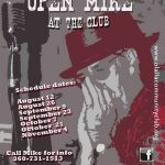 Open Mic at the Club All Dates Revised 2021