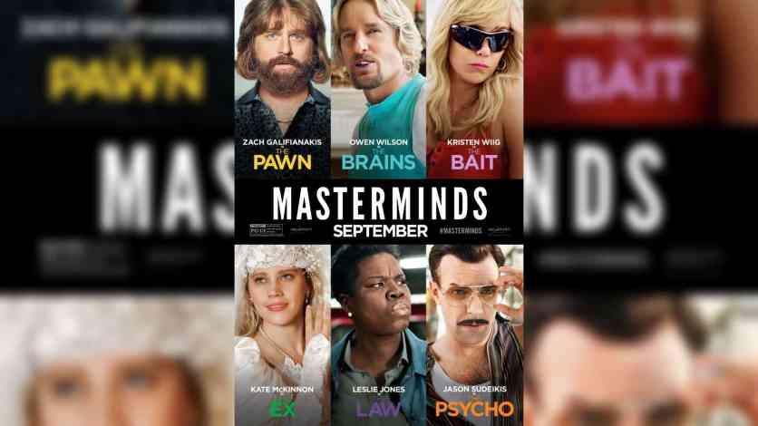 Masterminds (2016) Bluray Hindi Dubbed