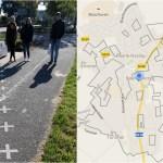 Keisčiausios pasaulyje sienos dviejų valstybių mieste: Nyderlandai-Belgija