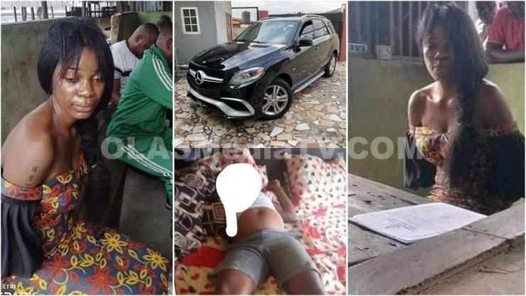 """Lady Arrested For Killing Her """"Sugar Daddy"""", Absconding With His 7m and Benz;"""