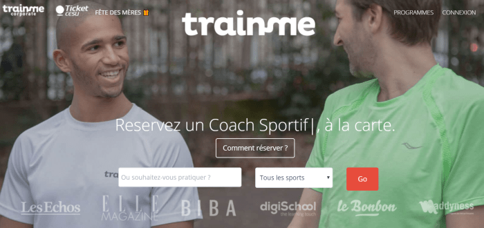 TrainMe interface