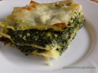 Spenótos lasagne, mediterrán konyha