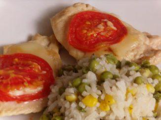 Olaszos csirkemell paradicsommal és sajttal, könnyű