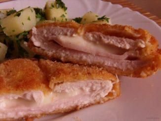 Cordon bleu, Gordon bleu, sajttal sonkával töltött csirkemell