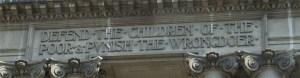 Old Bailey entrance inscription