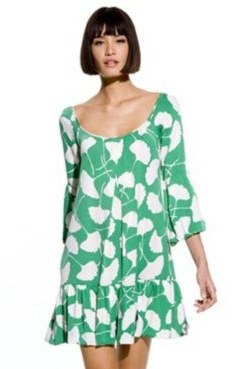 DVF ginkgo dress