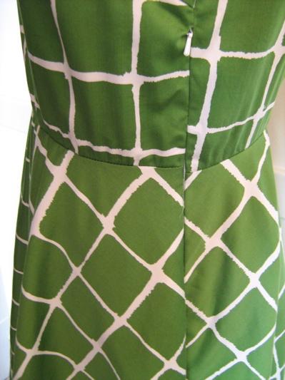 green windowpane dress