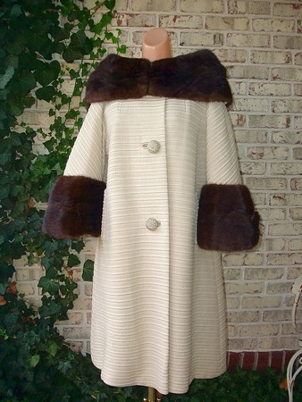 cream and mink coat