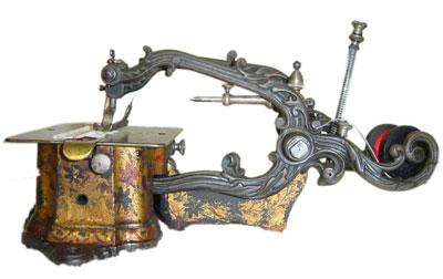 very old weird sewing machine