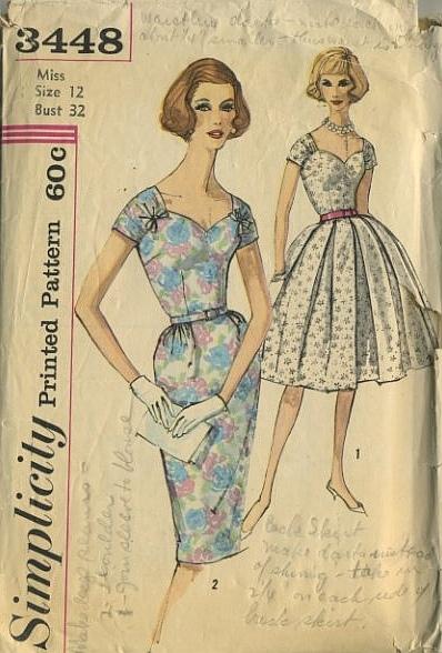 Hotchpotch Vintage Pattern Simplicity 3448