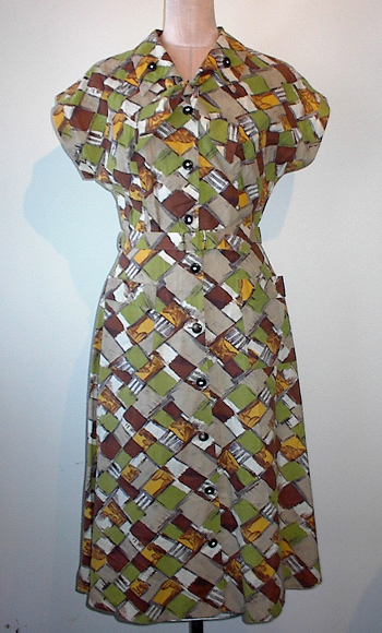30s plaid day dress