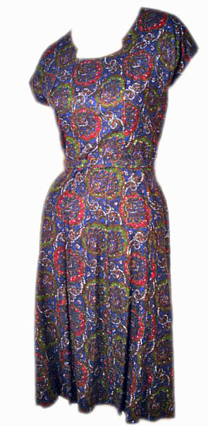 Vintage Paisley Dress with Jacket