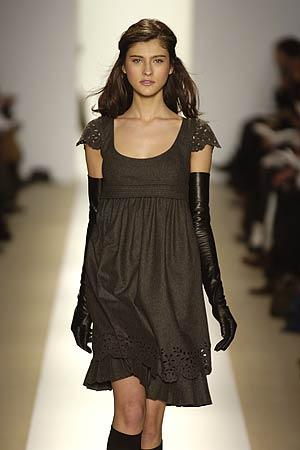 Steffe Gray Flannel Dress