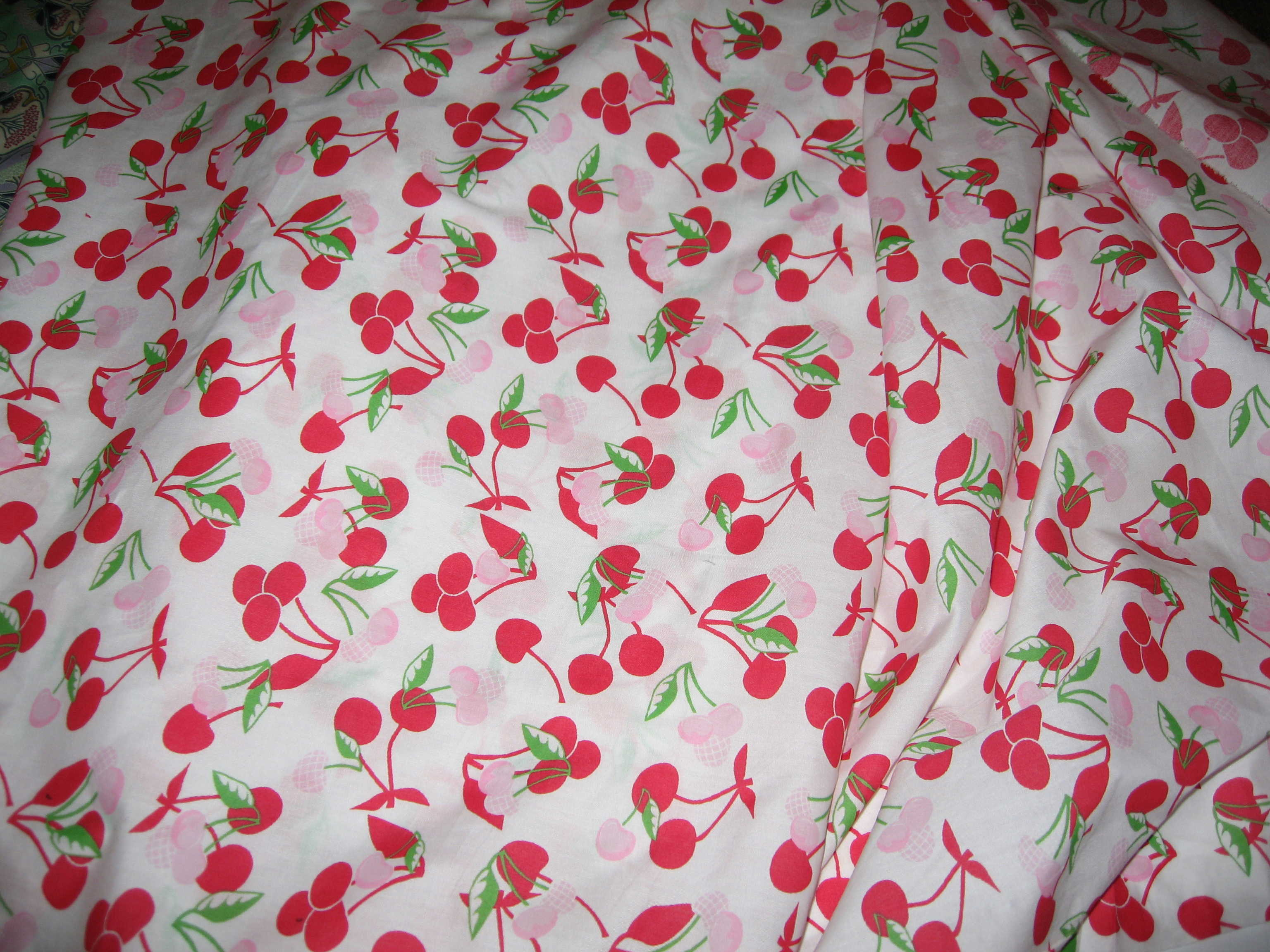 cherries fabric