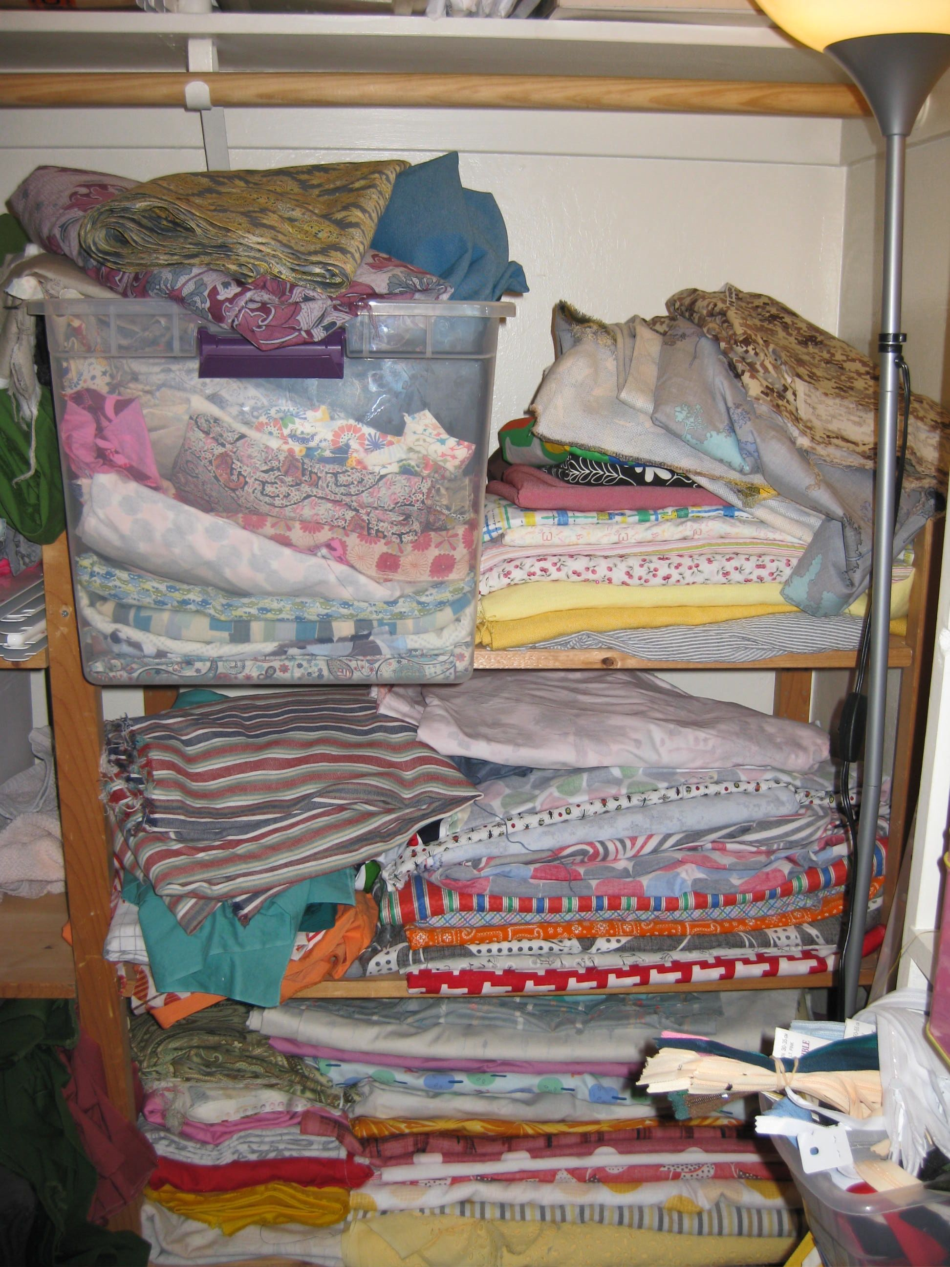 fabric closet