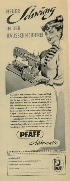 german sewing machine ad