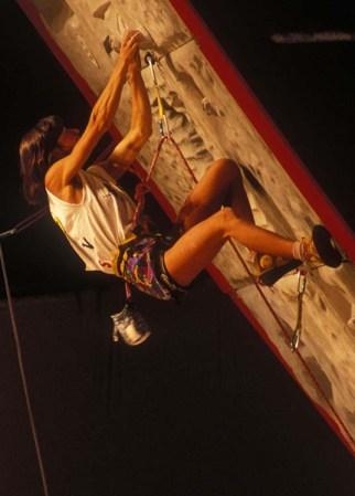 Luisa durante una gara di Coppa del Mondo 1989 (ph. H. Mariacher)