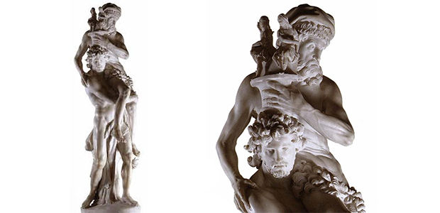 Statua di Gian Lorenzo Bernini, conservata a Villa Borghese in Roma, raffigurante Enea con il padre Anchise su una spalla e con il figlio Ascanio mentre fuggono da Troia in fiamme