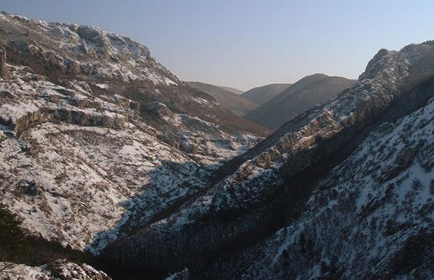Val Rosandra in veste invernale