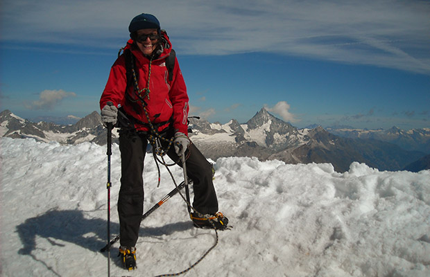 In cima al Breithorn occidentale (4168 m)