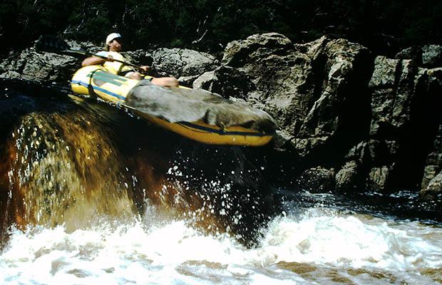 Navigazione sul Franklin River (1990)